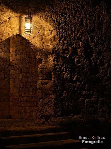 Dunkelheit in der Römergasse